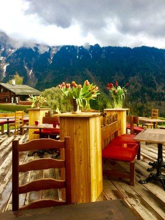 Caux, Switzerland: La terrasse du restaurant