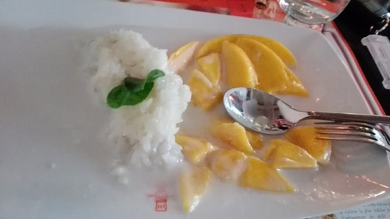 Pum Thai Restaurant & Cooking School: Dessert riz gluant et mangue