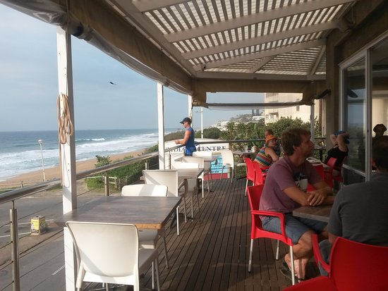 Caffe Java: On the deck with the ocean in view