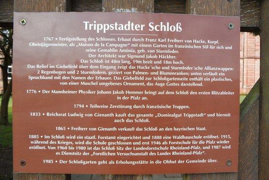 TRippstadter Schloss Infotafel