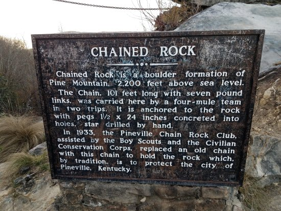 Pineville, KY: Chained Rock