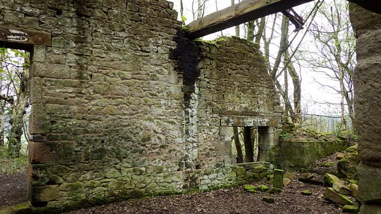Matlock, UK: ruins of an old building just as you start the walk from lees road