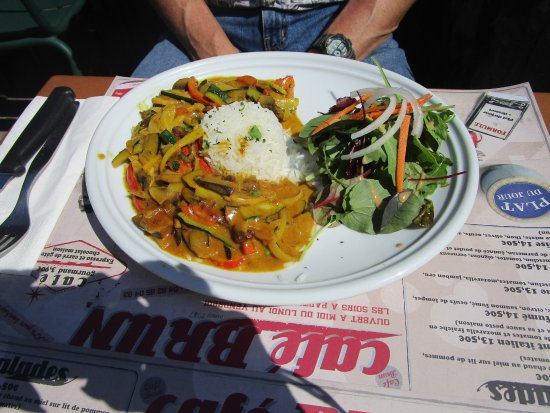 Cafe Brun: Vegetarian curry