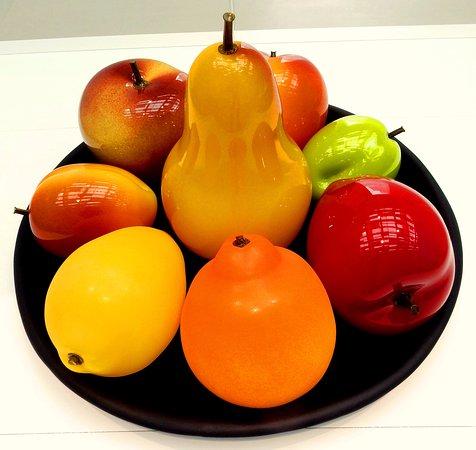 Corning, نيويورك: glass fruits