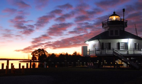 Saint Michaels, MD: Miles River sunrise at CBMM