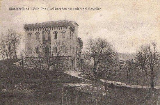 Villa Van - Axel - Loredan sui ruderi del Casteller: VECCHIA FOTO DELLA VILLA.