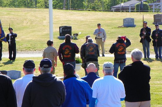 Troy, NY: Leathernecks (Marines) in attendance