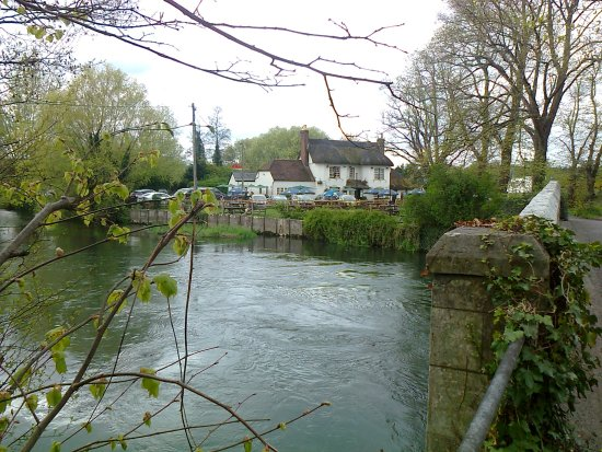 The Fish Inn and the River Avon, Ringwood, Hampshire