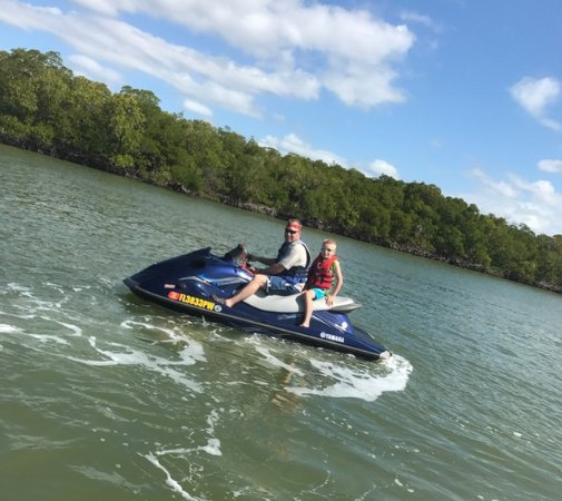 Capt. Ron's Awesome Everglades Adventures: Hubby and 9 year old son on jet ski