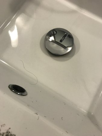 West Fargo, ND: There was hair in the sink upon arrival. Sink was not cleaned the next day either.