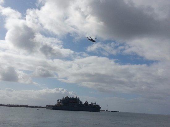 Kona Kai Resort & Spa, A Noble House Resort: US Navy keeping us safe