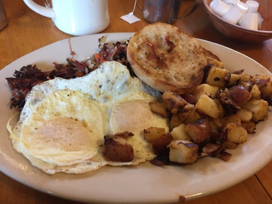 Exeter, Nueva Hampshire: my breakfast I ordered scrambled eggs though
