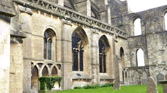 Malmesbury, UK: Close up of the Abbey