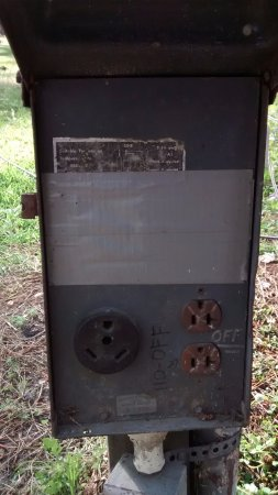 New Green Acres RV Park: Power Outlet Box Site 40