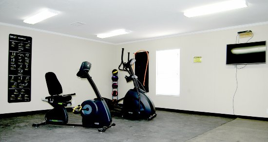 Pecos, TX: The fitness center is free to use for all guests