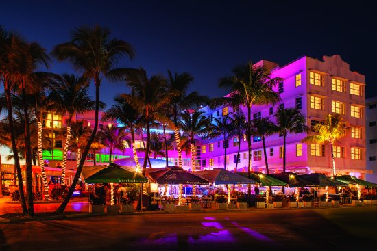 The illuminated South Beach
