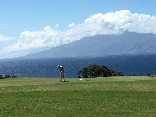 Kapalua Plantation Course: Lanai in background