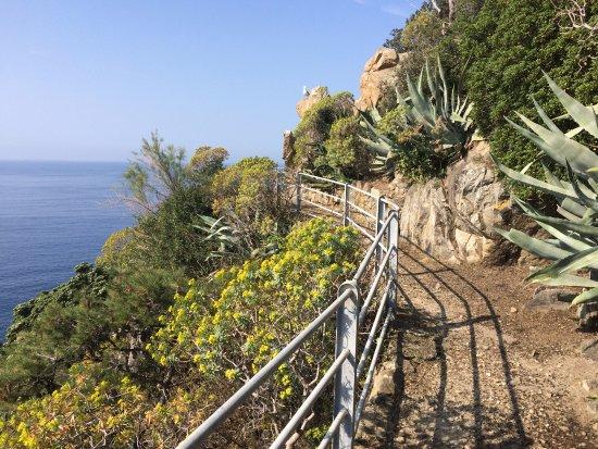 Grand Hotel Dei Castelli: Petit chemin privé sur la péninsule derrière l'hôtel