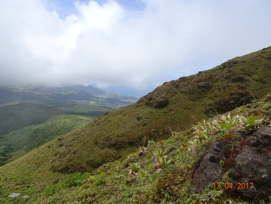 Saint-Claude, Guadalupe: Vue lors de la montée par le chemin des scientifiques