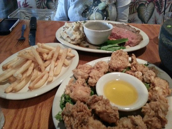 Palm Harbor, FL: Prime rib and fried oysters