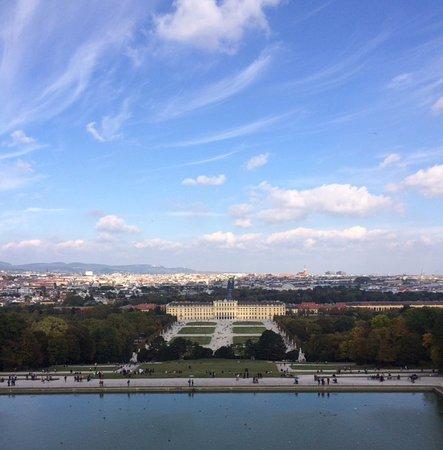 Región de Viena, Austria: Vista desde el punto mas alto de los jardines.