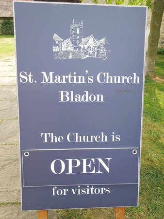 Bladon, UK: name of the church
