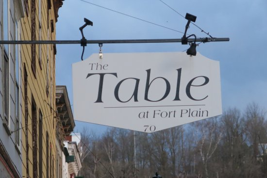 Fort Plain, NY: The Table's shingle.