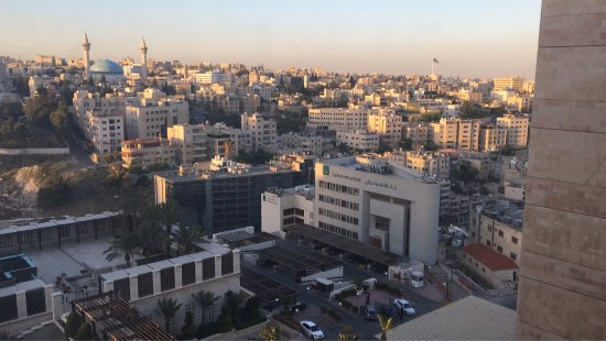 Grand Hyatt Amman: View from room and table