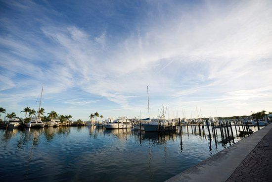 Abaco Beach Resort and Boat Harbour Marina: View from quay