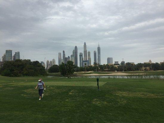 The Emirates Golf Club: Regenwolken ziehen auf