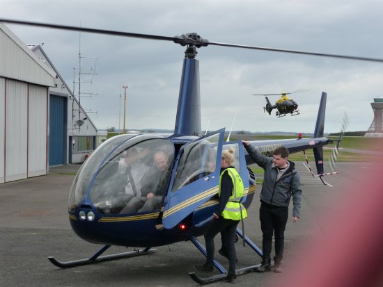 Woolsington, UK : The helicopter