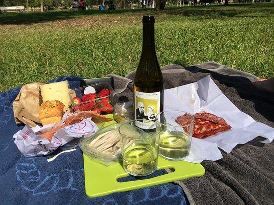 Valencia Mindfulness Retreat: Eerst lunchen in het park.......