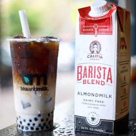 Astoria, Estado de Nueva York: Almond Milk coffee!!!