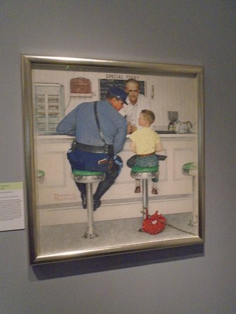 Norman Rockwell Museum: One of Rockwell's famous paintings.