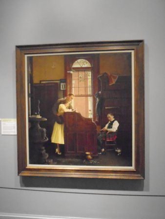 Norman Rockwell Museum: Another painting.