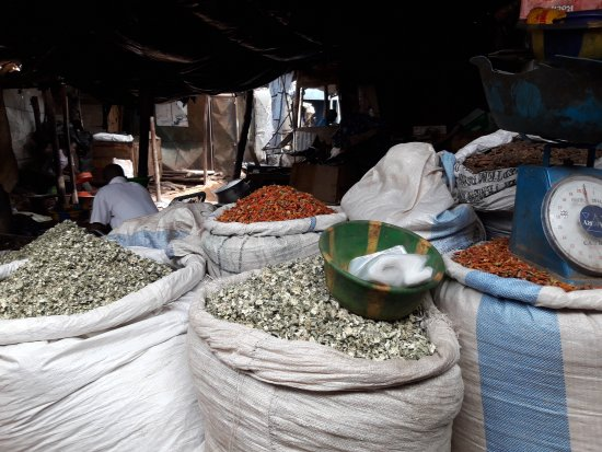Bamako: vegetable market at the south bank: 20170412_104912_large.jpg
