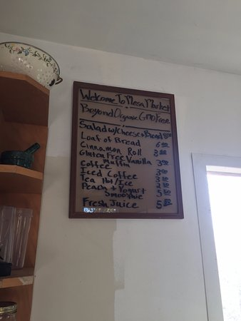Caineville, UT: Mesa Farm Market - menu sign