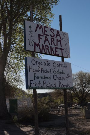 Caineville, Юта: Mesa Farm Market - sign