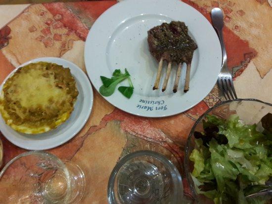 Aussois, Francia: Carré d'Agneau à l'origan + Crozets de Tarentaise en gratin