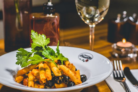 Rossella: Penne All'Arrabiata is a deliciously simple Italian pasta dish with Sicilian olives and fresh ch