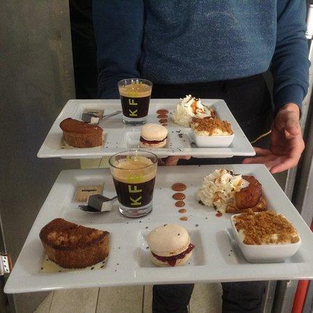 Sorgues, Francia: Nos cafés gourmands