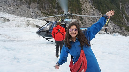 Franz Josef, Neuseeland: On the glacier in front of the helicopter