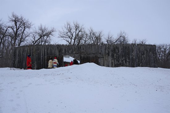 Washburn, ND: Fort Mandan in winter