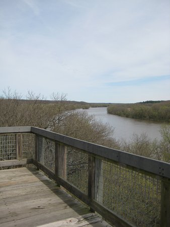 Oregon, IL: View of the Rock river from the overlook