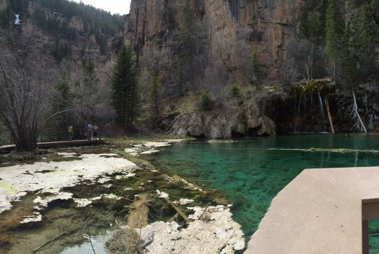 Hanging Lake Trail: No filters needed, the water really is that blue!