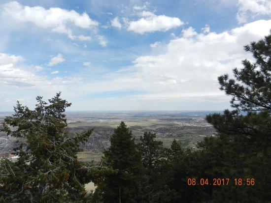 Golden, CO: View of Denver Plain Outlook mountain