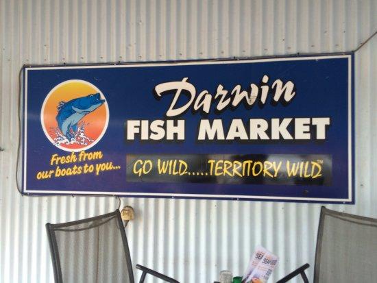 Darwin Fish Market : Sign