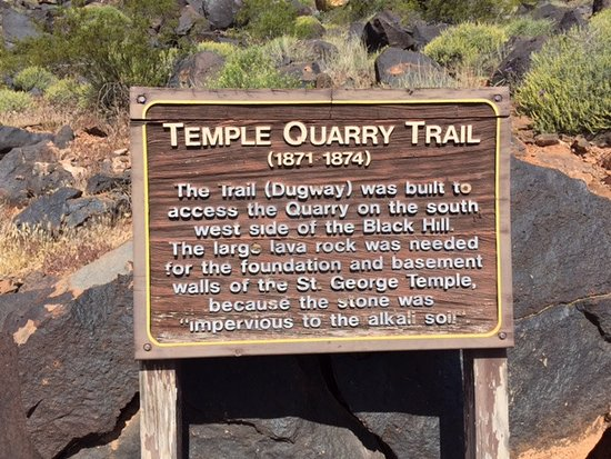 ‪St. George Temple Quarry Trail‬
