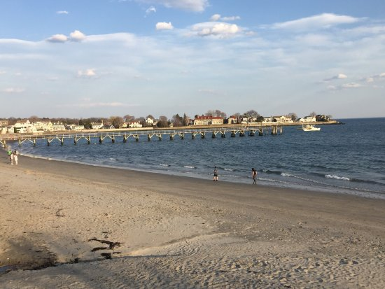 View of pier and Swampscott from Lynn beach