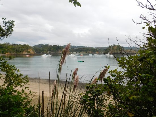 Tutukaka, New Zealand: Hotel's quiet & safe beach reached via a steep, safe pathway